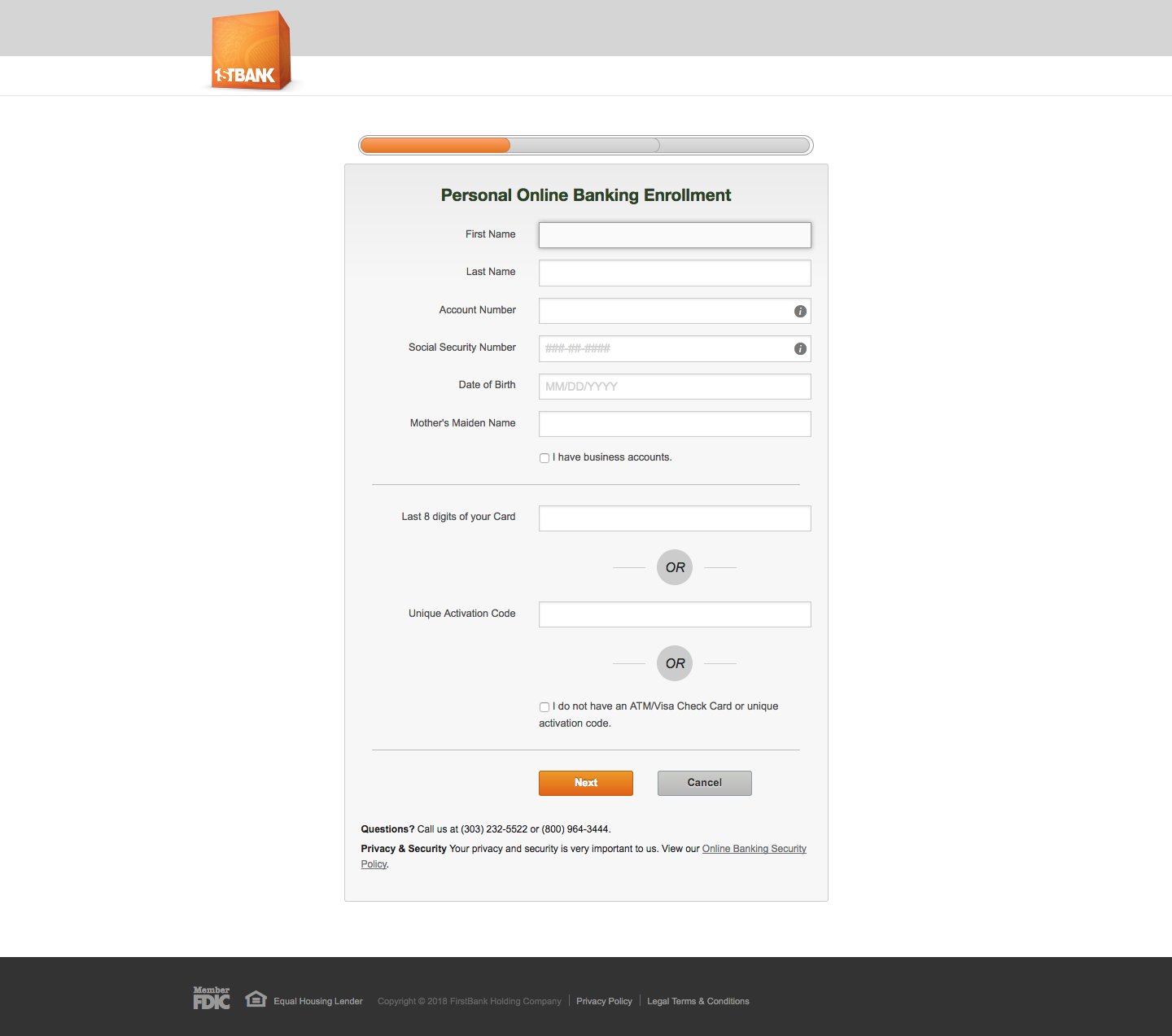 1st Bank Online Banking Login Steps