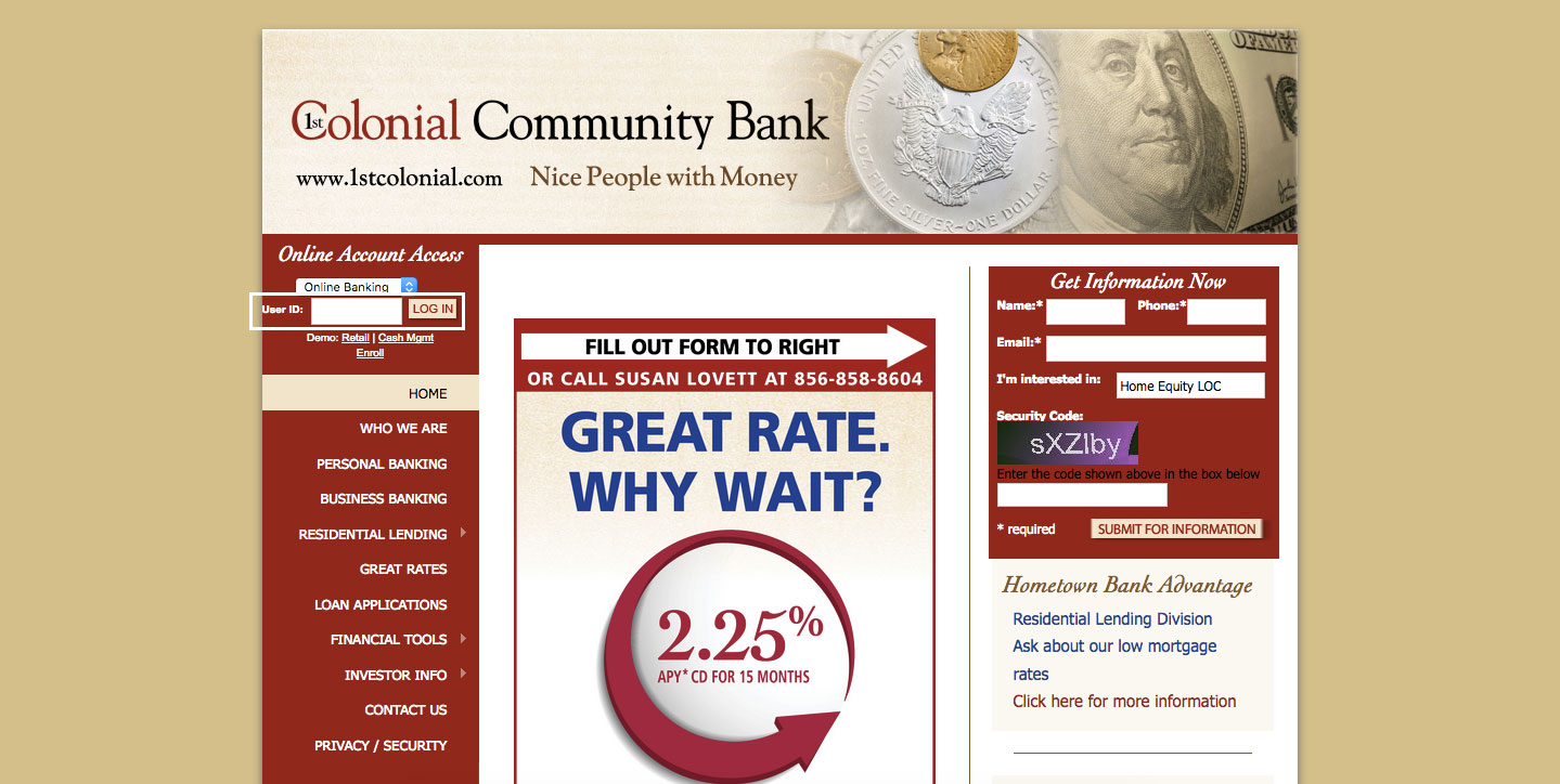 1st Colonial Community Bank Online Banking Login Guide
