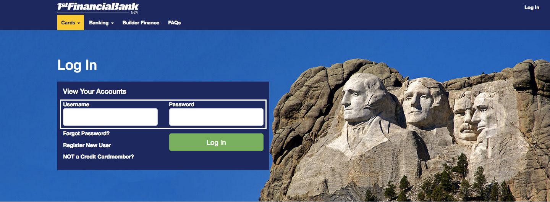 1st Financial Bank USA Online Banking Login Steps