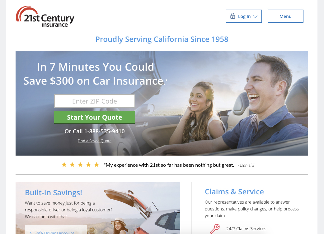 21st Century Insurance Online Login Process
