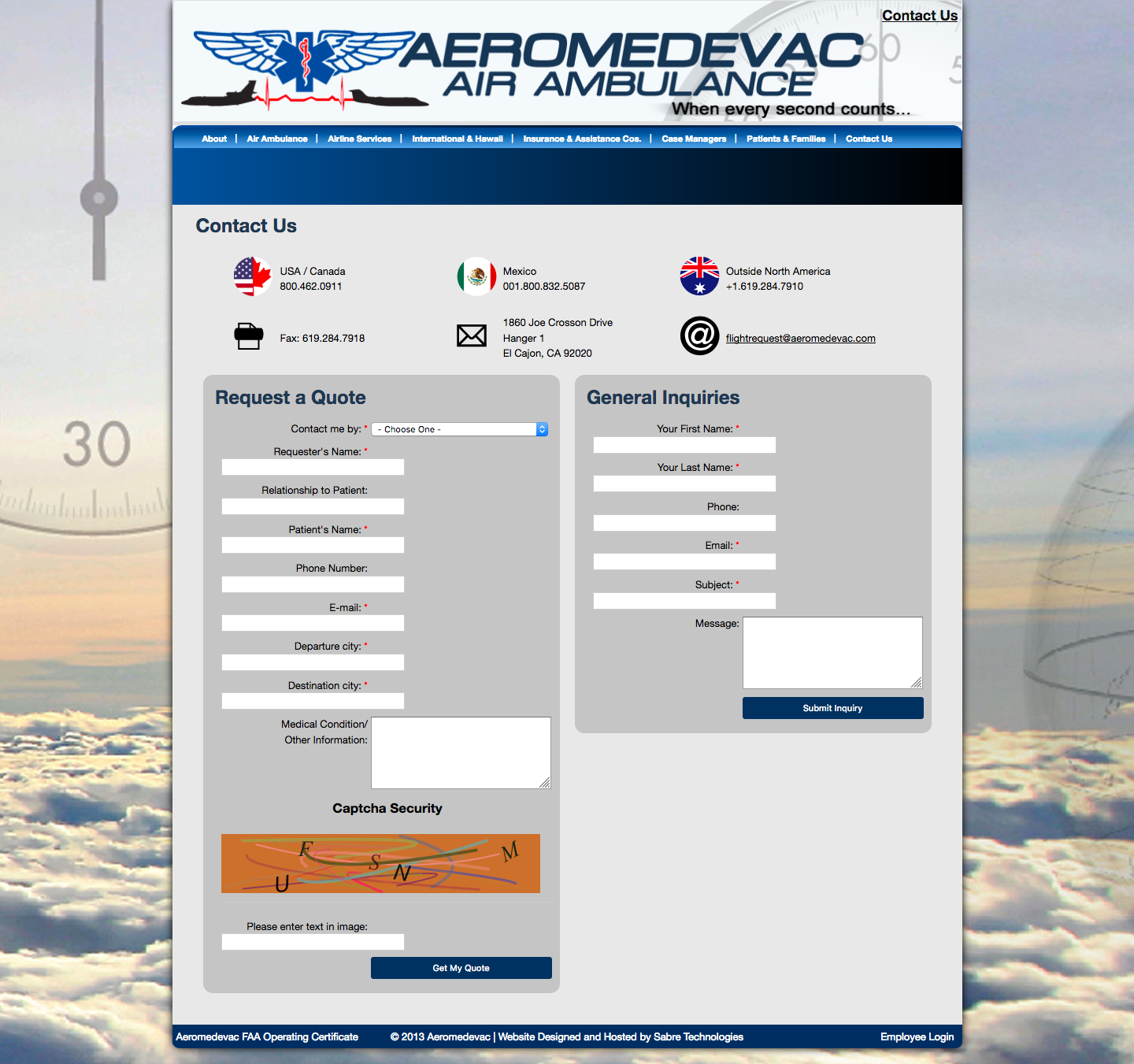 Aeromedevac Air Ambulance Insurance Online Login Help