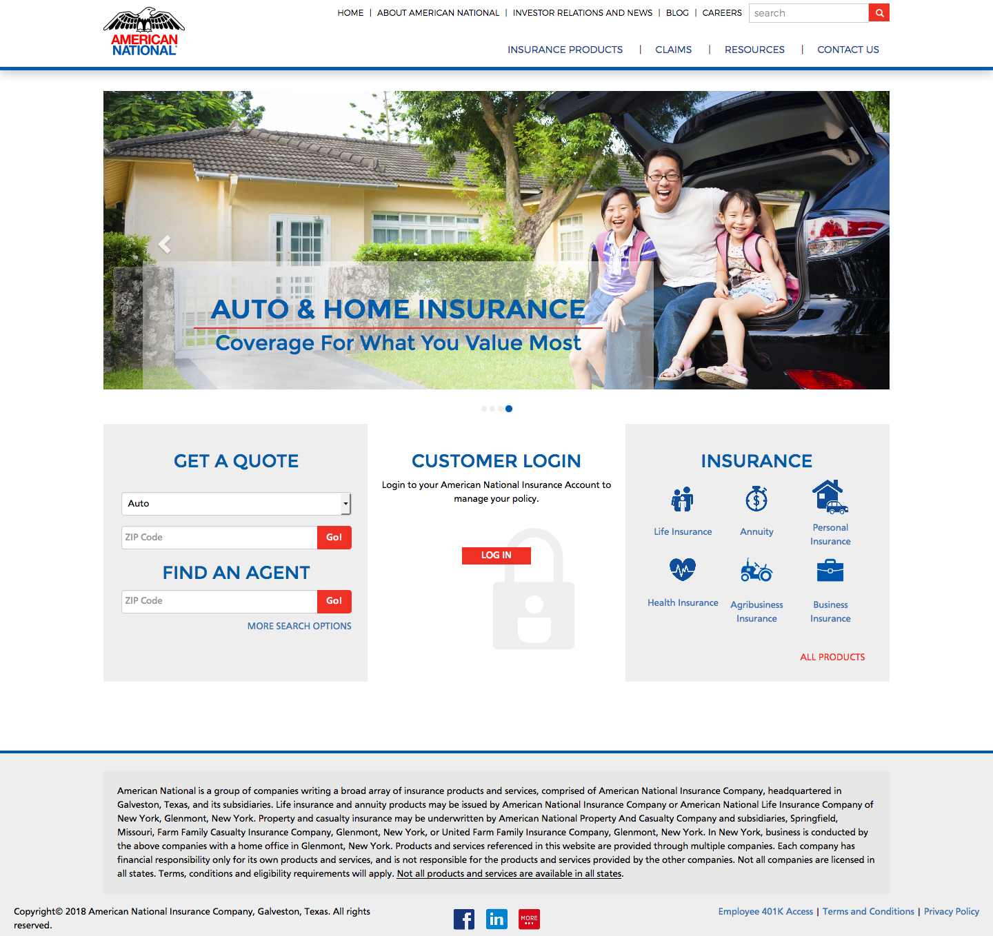 American National Insurance Online Login Help