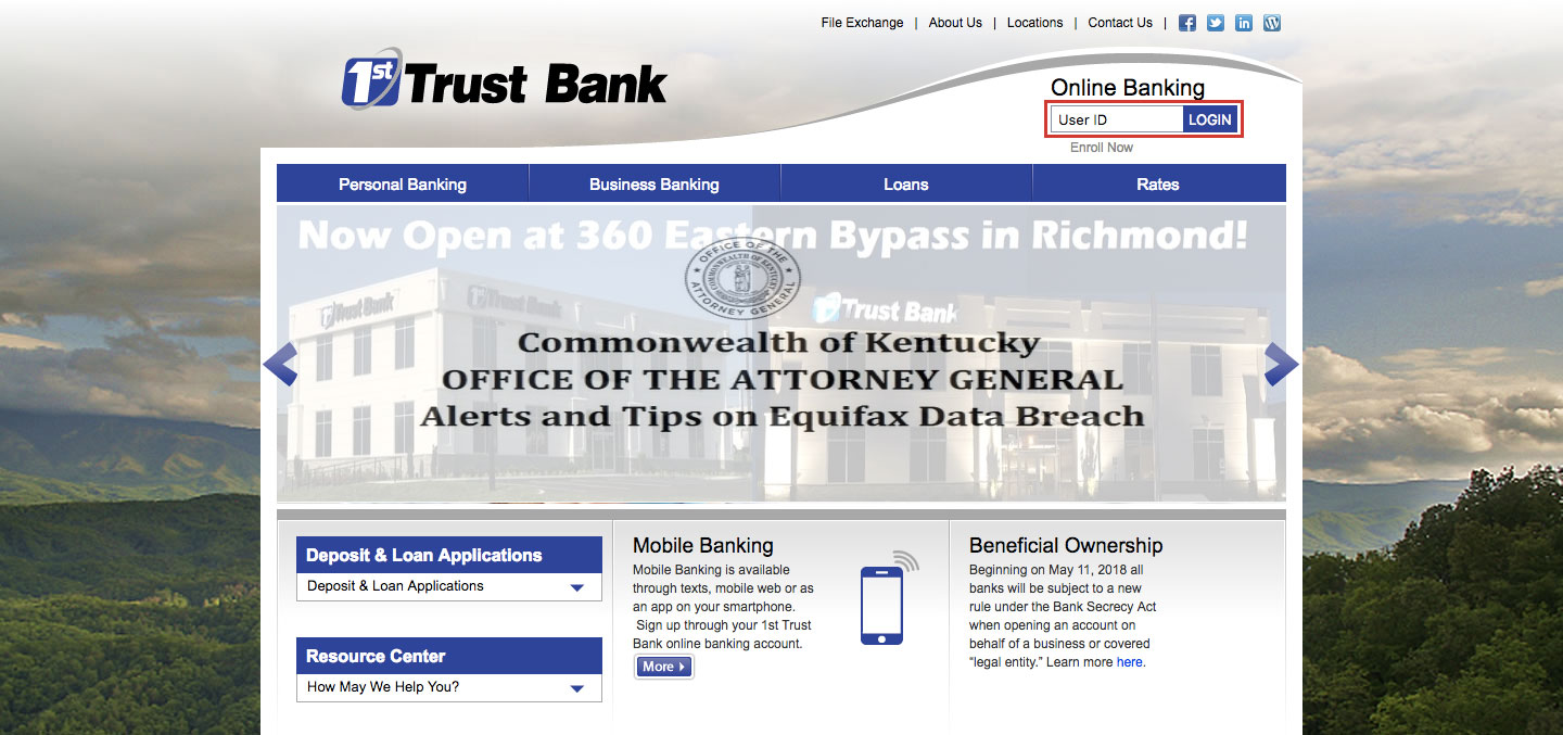 How to Login 1st Trust Bank Online Banking