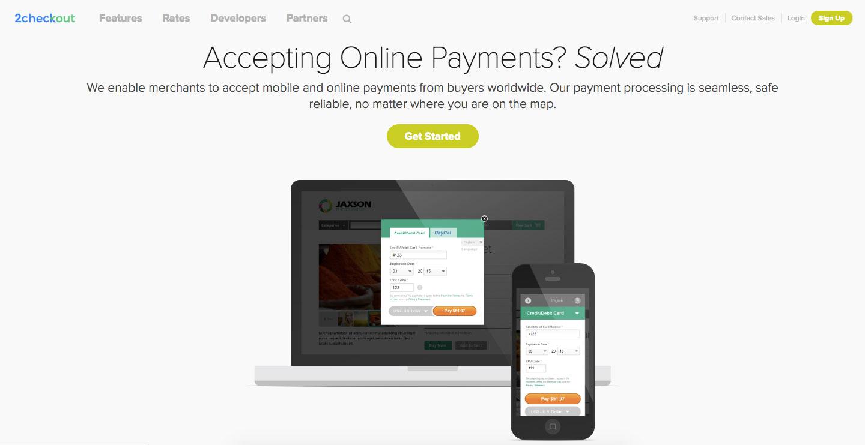 2Checkout Online Payment Login Process