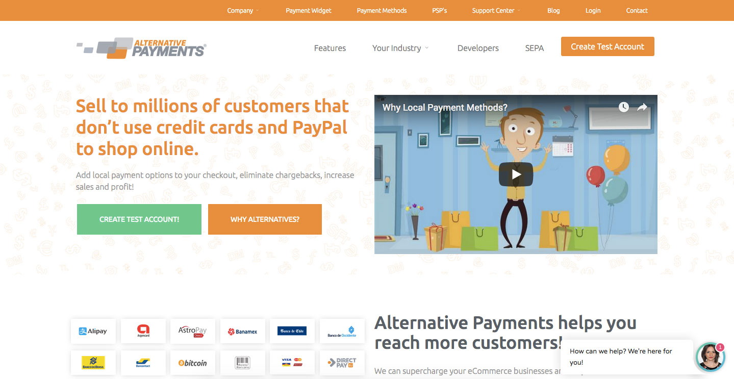 Alternative Payments Online Payment Login Steps