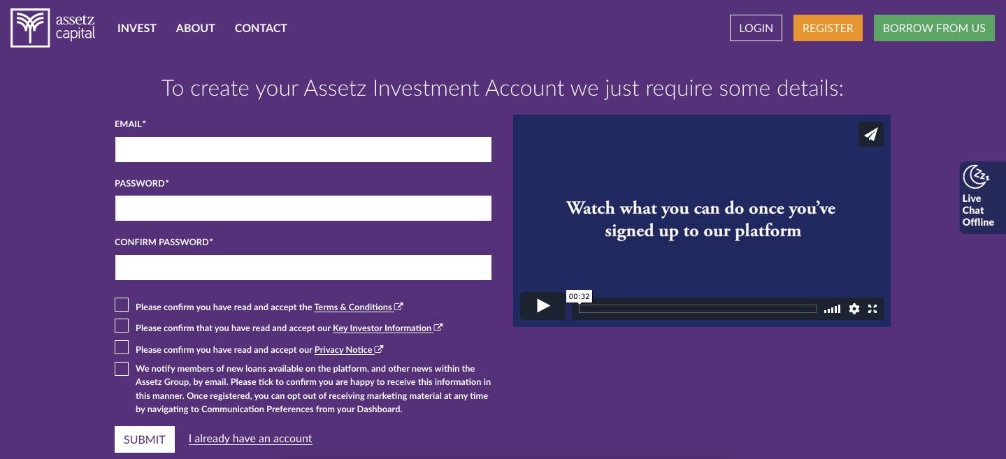 Assetz Capital P2P Lending Login Procedure