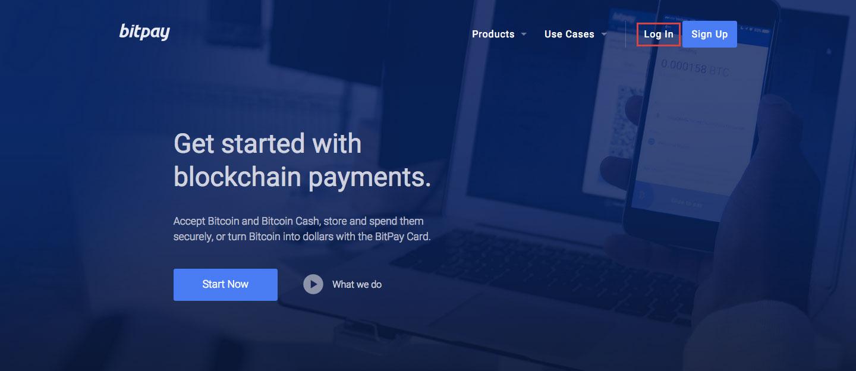 BitPay Online Payment Login Process