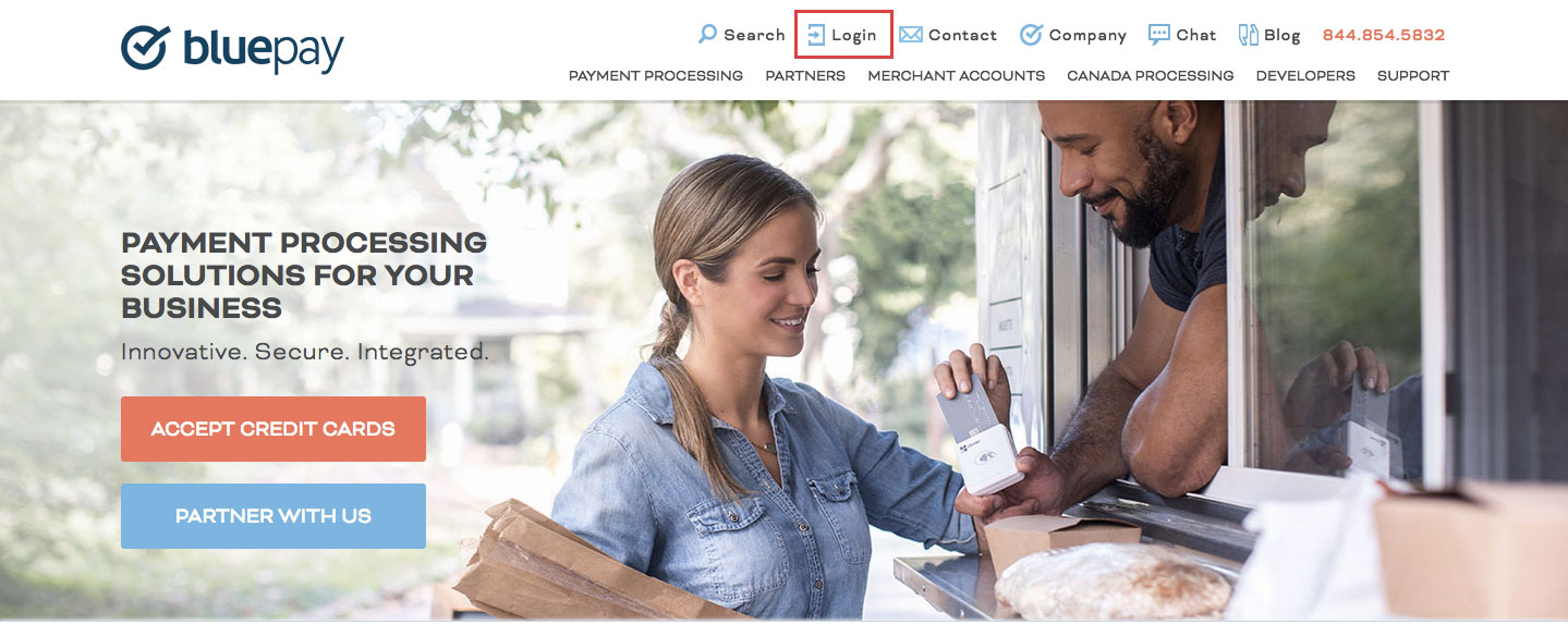BluePay Online Payment Login Process