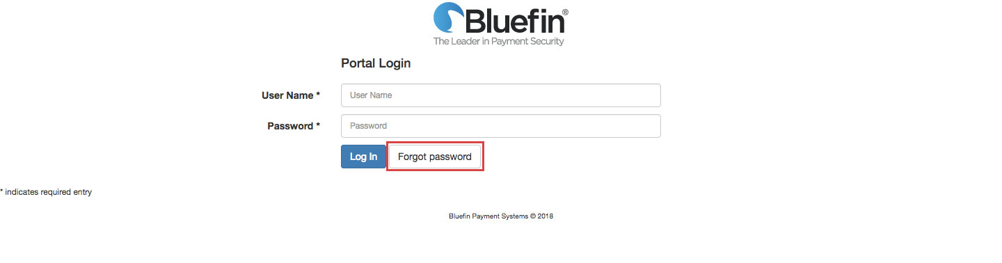Bluefin Online Payment Login Procedure
