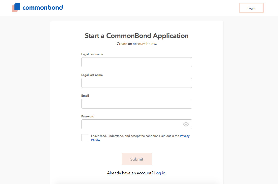 CommonBond P2P Lending Login Details