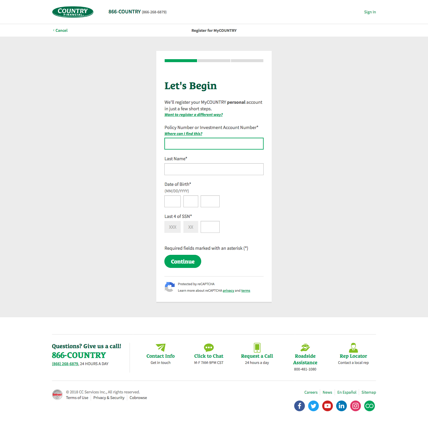 Country Financial Insurance Online Account Login Process
