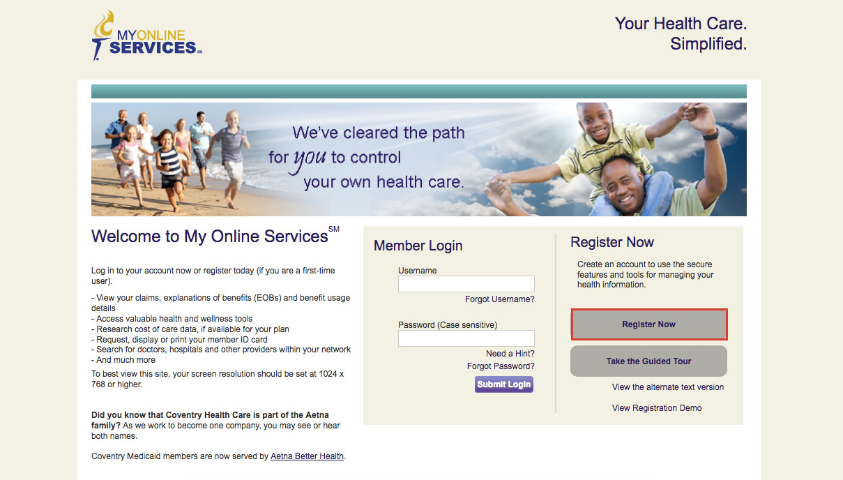 Coventry Health Care Insurance Online Login Details