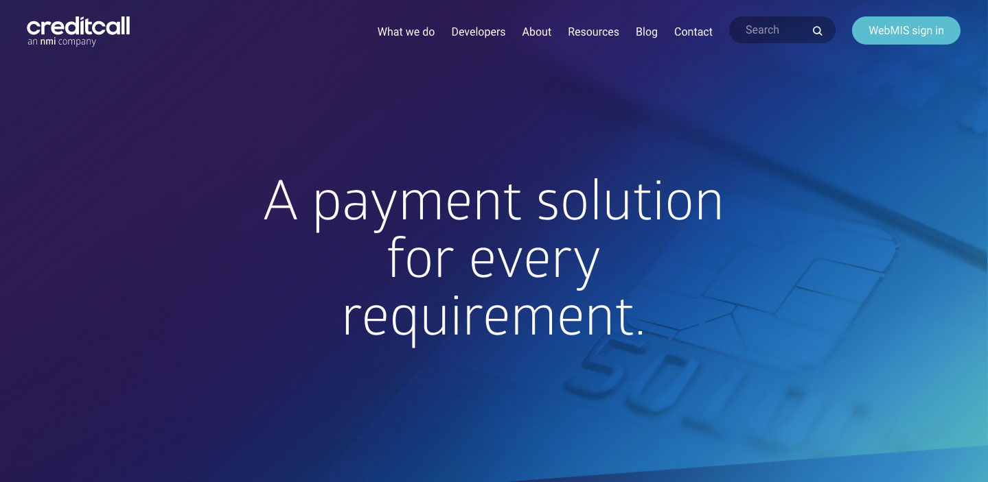 Creditcall WebMIS Online Payment Login Details