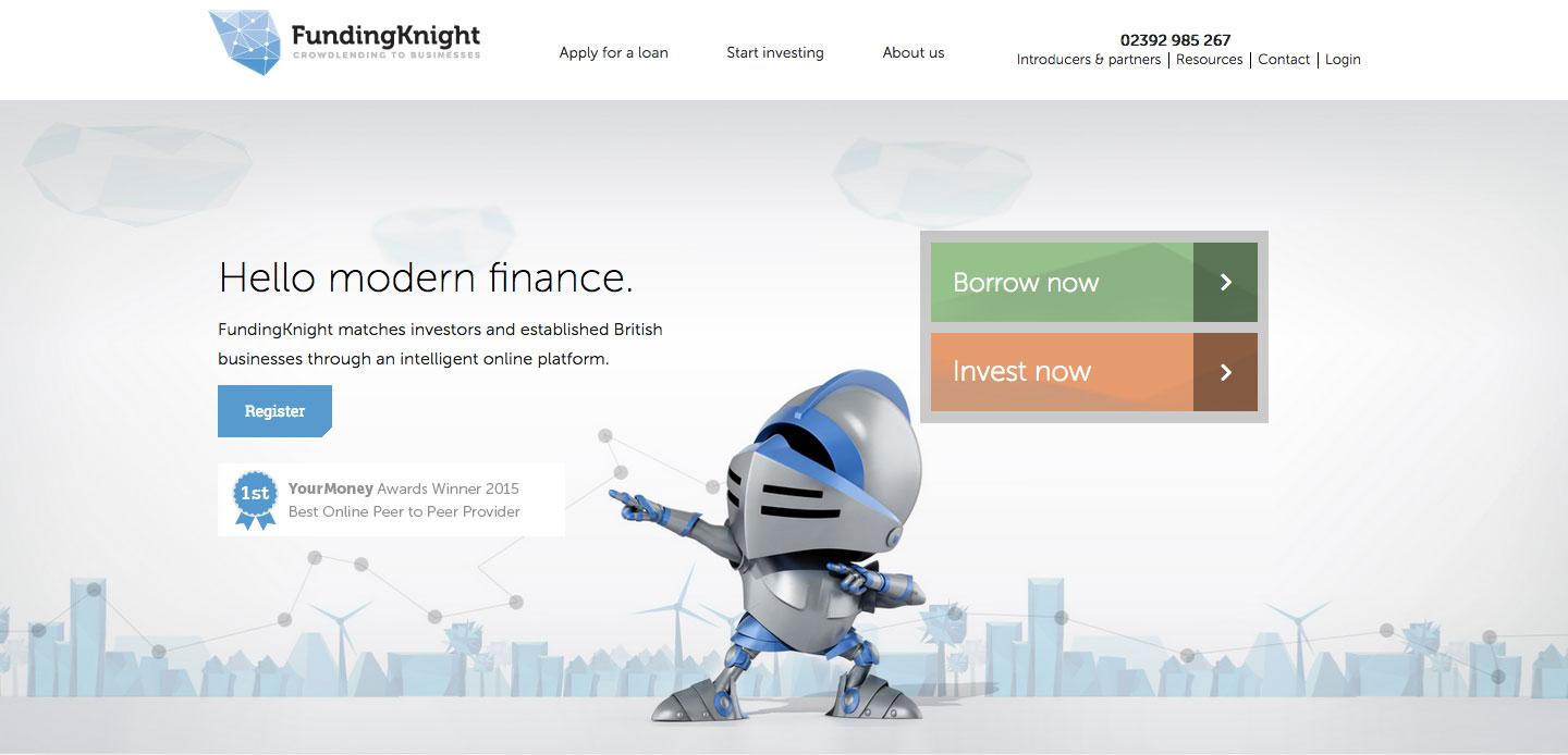 FundingKnight P2P Lending Login Process