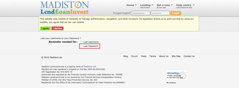 Madiston LendLoanInvest P2P Lending Login Access