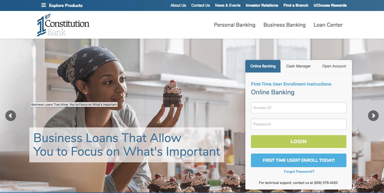 1st Constitution Bank Online Banking Login Process