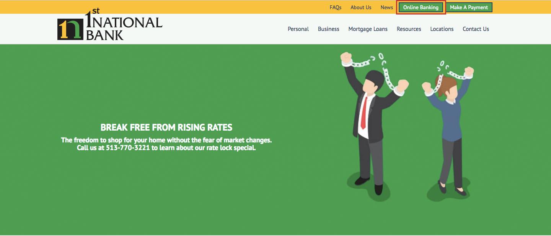 1st National Bank Online Banking Login Procedure