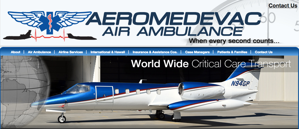 Aeromedevac Air Ambulance Insurance
