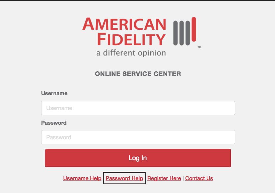 American Fidelity Assurance Insurance Online Login Process