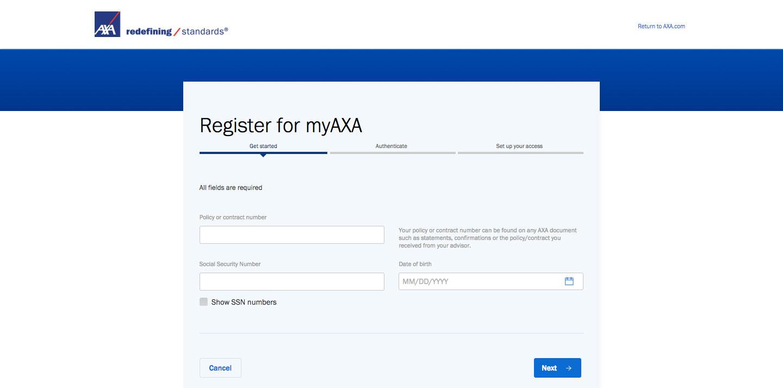 AXA Equitable Insurance Online Account Login Guide
