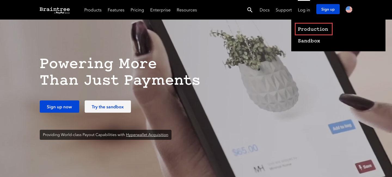 Braintree Online Payment Login Process