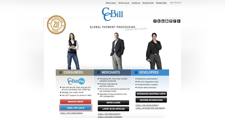 CCBill Online Payment Account Login Procedure