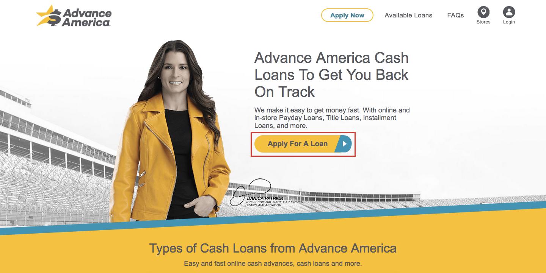Advance America Loan Online Login Process