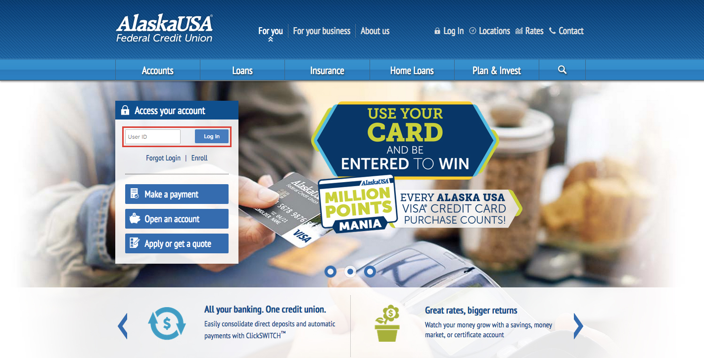 Alaska USA Credit Union Loan Online Login Steps