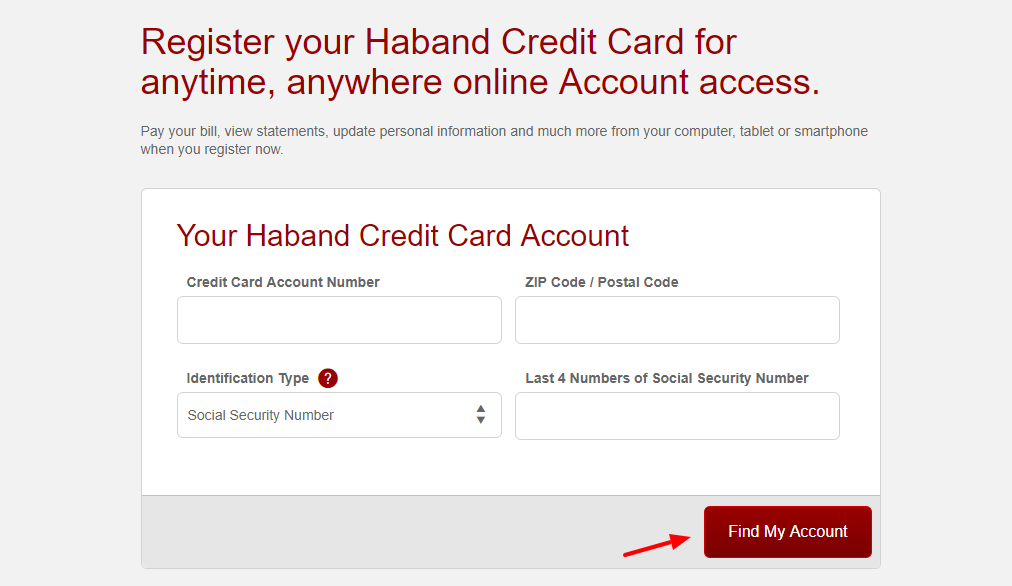 Haband Credit Card