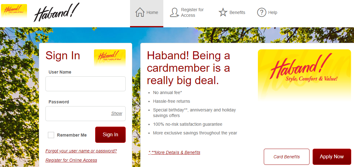Haband Credit Card Logo