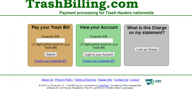 www.trashbilling.com – How To Pay The Trash Bills Online