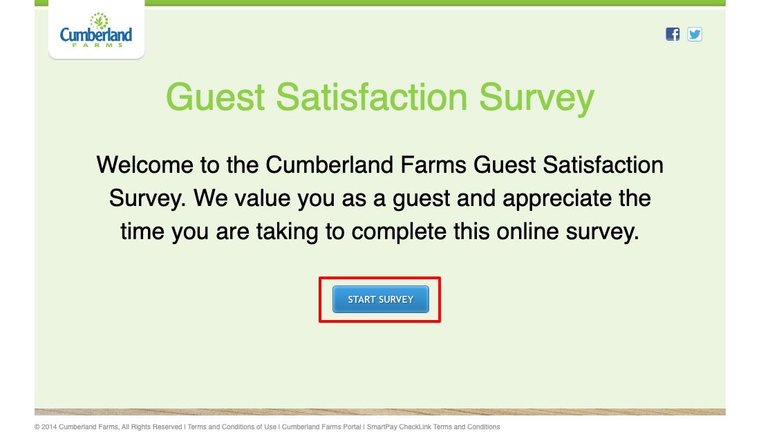 Cumberland Farms Gift Card Survey