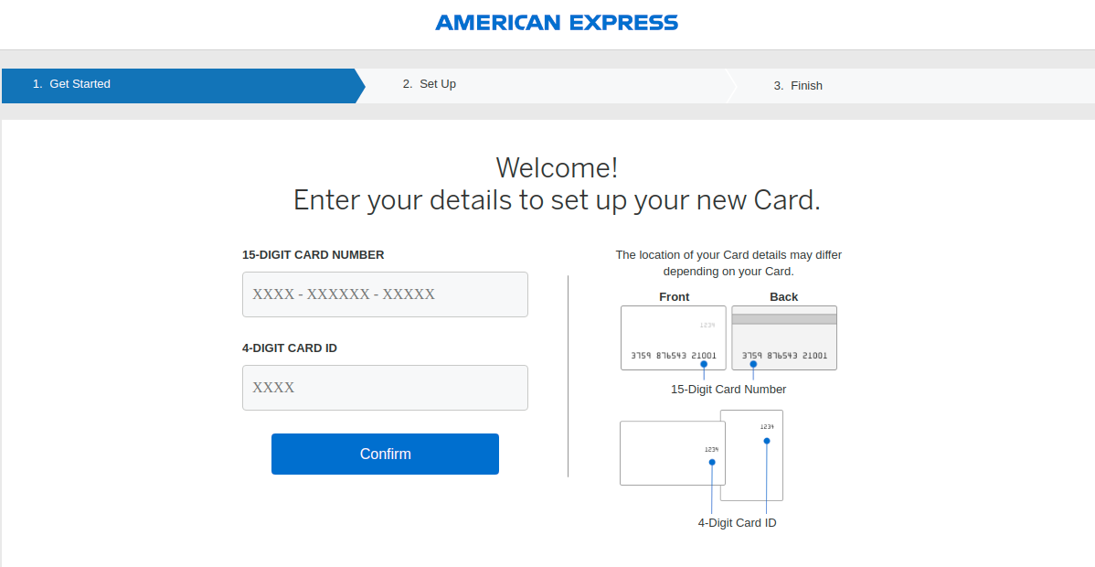 American Express Card Register