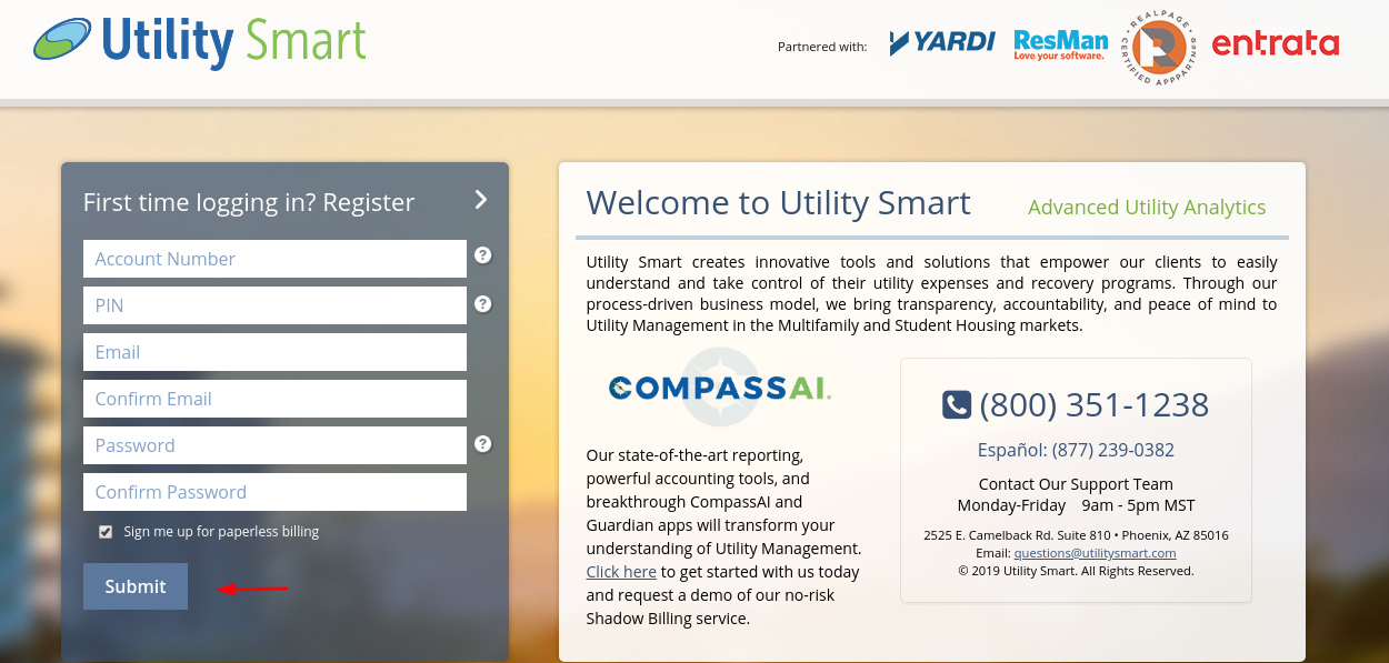 Utility smart Create Account