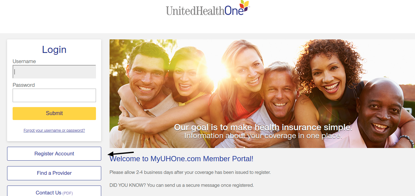 United Health One Register