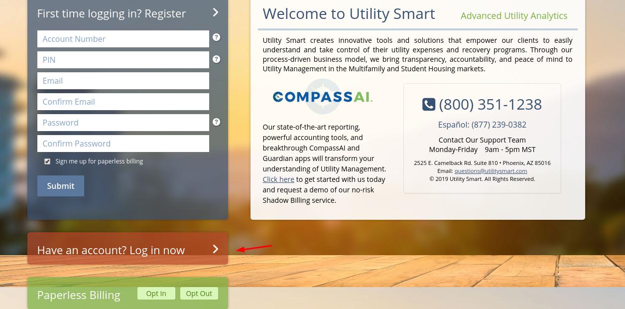 Utility smart Login