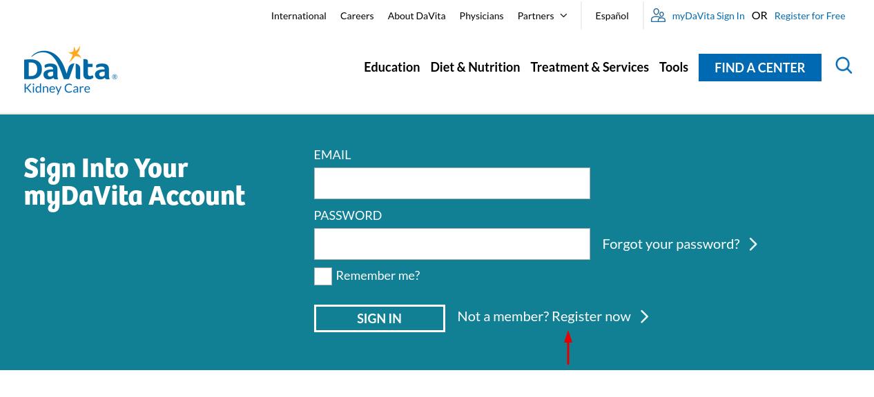 Davita Register