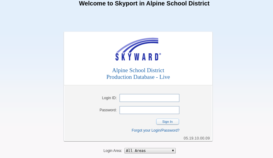Skyward Alpine Login