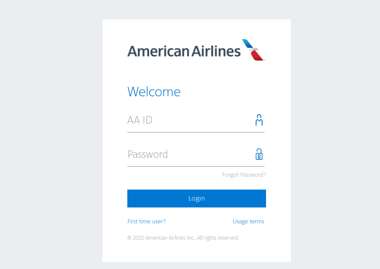 American Airlines - Login