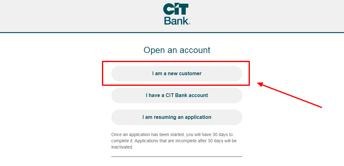 Applying for CIT Bank Account