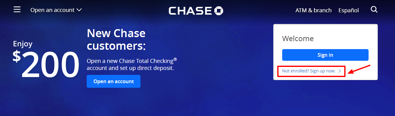Chase Bank Online Account Enroll