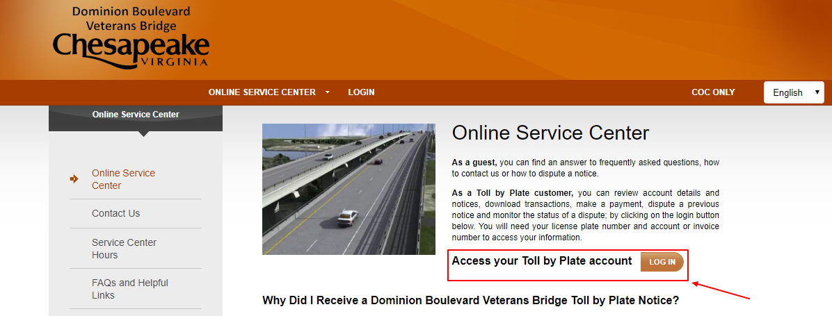 Pay Dominion Tolls