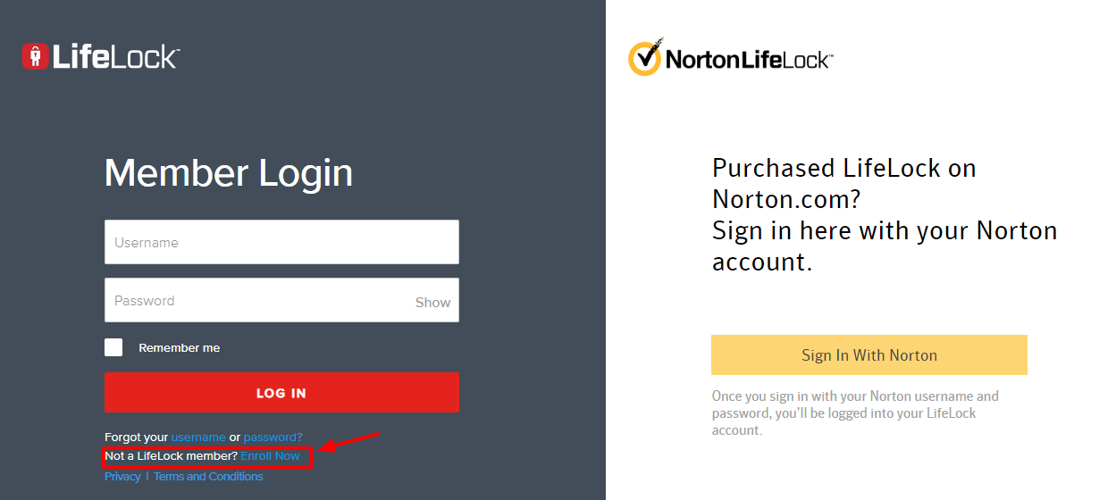 Process of Creating Account with Norton 360 LifeLock