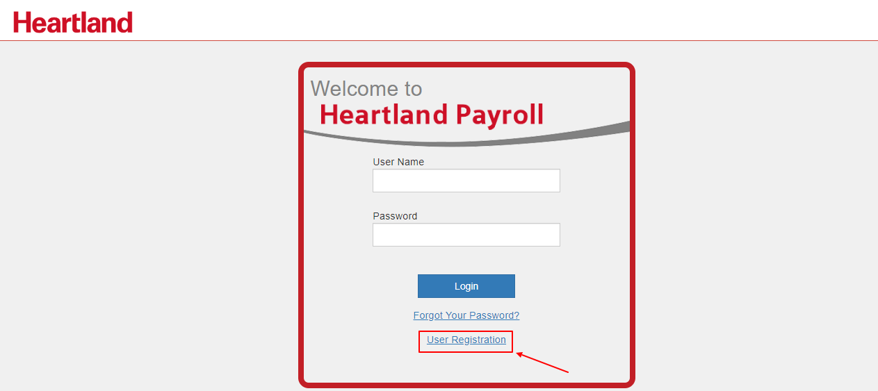 Registration for Heartland Payroll