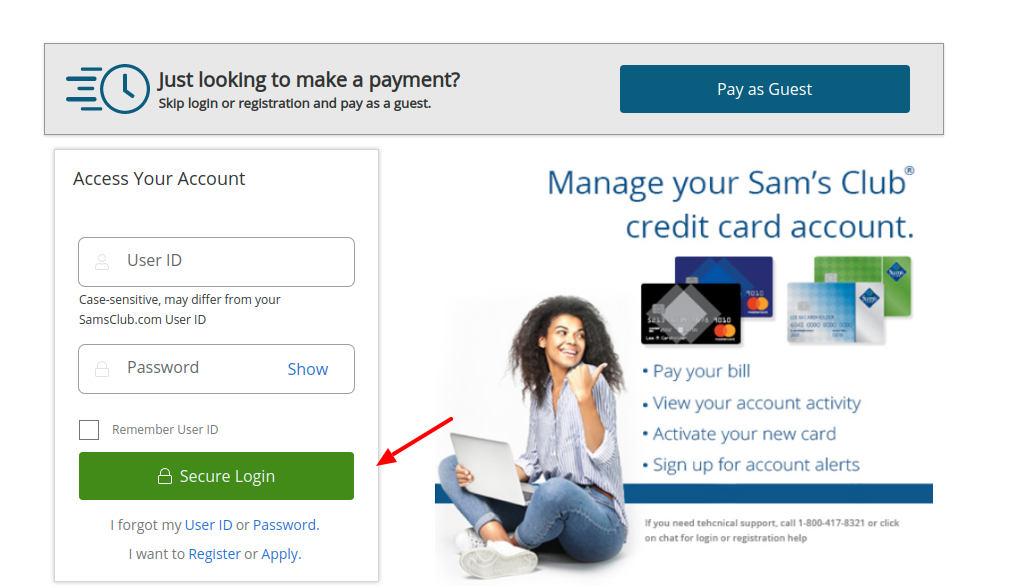 Sams Club Credit Card Login