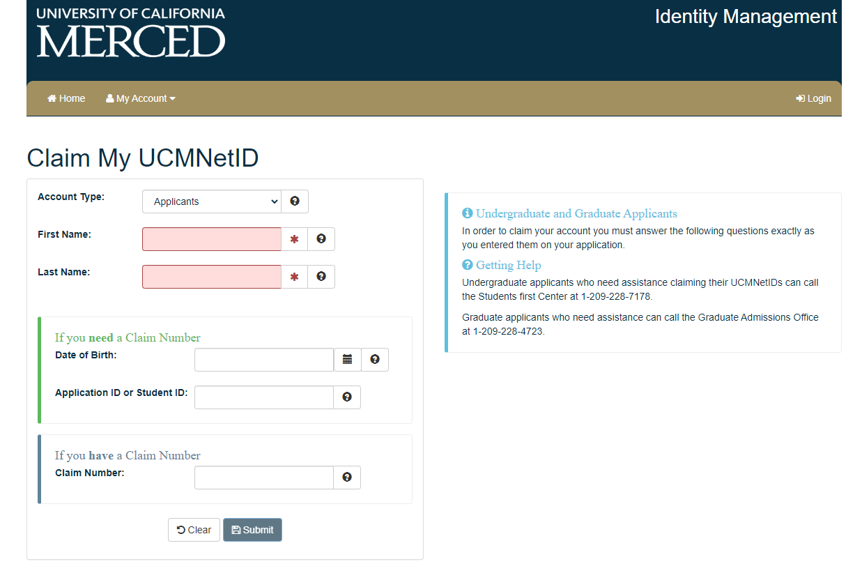 UC merced portal login
