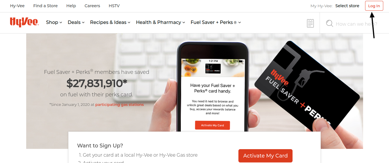 Hy Vee Fuel Card Login