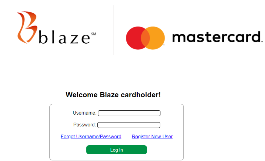 blaze credit card sign in