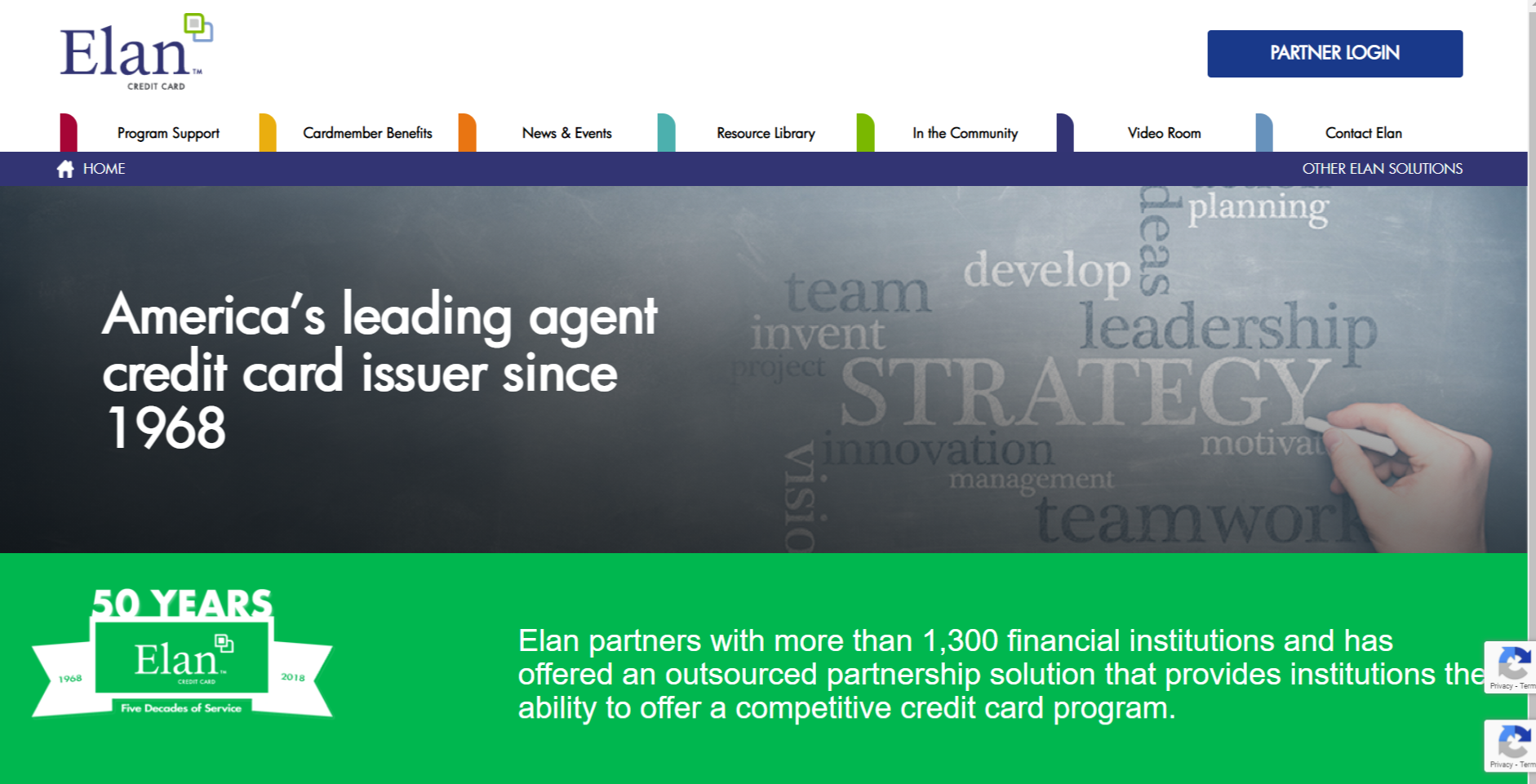 elan credit card account