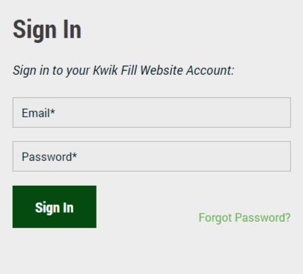 Kwik Fill Rewards login